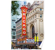 The Chicago theatre, Chicago, Illinois, USA Poster