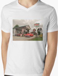 Sinclair Gas Station Mens V-Neck T-Shirt