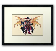 Demon Hunter Gold Framed Print