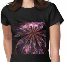 Dark Purple Flower - Abstract Fractal Artwork Womens Fitted T-Shirt