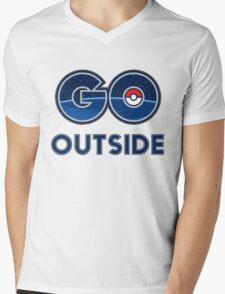 Pokemon Go Outside Mens V-Neck T-Shirt
