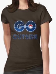 Pokemon Go Outside Womens Fitted T-Shirt