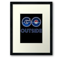 Pokemon Go Outside Framed Print
