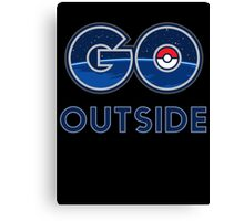 Pokemon Go Outside Canvas Print