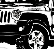Black Jeep drawing Sticker