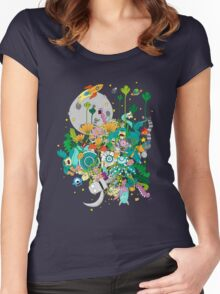 Imaginary Land Women's Fitted Scoop T-Shirt