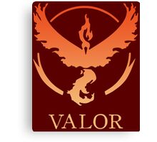 TEAM VALOR - POKEMON GO TSHIRT Canvas Print