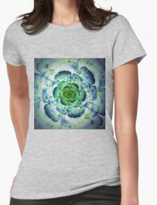 Flower - Abstract Fractal Artwork Womens Fitted T-Shirt