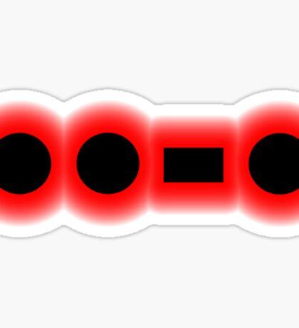 Morse Code Letter F Sticker