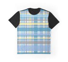 Blue and Yellow Tartan Graphic T-Shirt