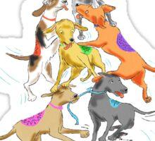 Acrobatic Dogs Sticker