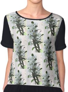 Orchid Blooms Chiffon Top