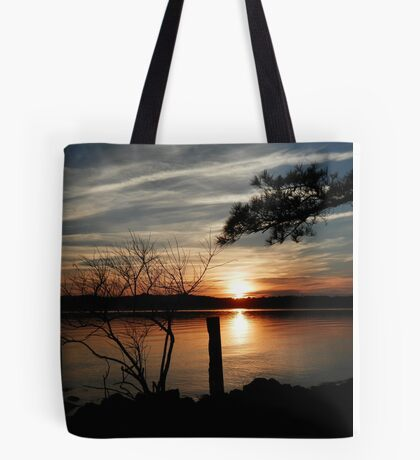 Awesome Sunset Silhouette  Tote Bag