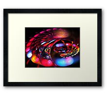Red Happy Spiral Framed Print