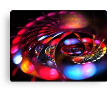 Red Happy Spiral Canvas Print