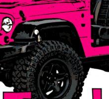 Pink go topless Jeep Sticker