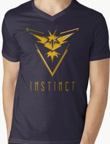 TEAM INSTINCT GOLD VERSION - POKEMON GO TSHIRT (BEST QUALITY ON SITE!) Mens V-Neck T-Shirt
