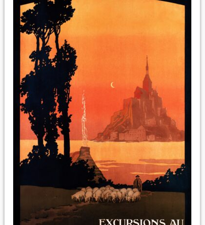 Mont St Michel, French Travel Poster Sticker