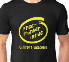 Freethinker Inside -- Visitors Welcome Unisex T-Shirt
