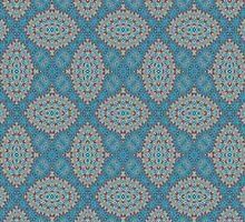 Tribal Tile Blue by AllyNCoxon