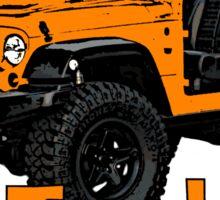 Orange go topless Jeep Sticker