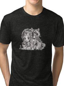 Chibi Clexa Onesies Racoon Lion Tri-blend T-Shirt