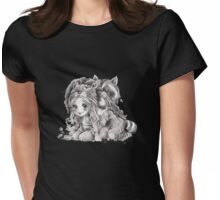 Chibi Clexa Onesies Racoon Lion Womens Fitted T-Shirt