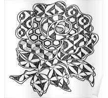 Geometric England Rose Poster