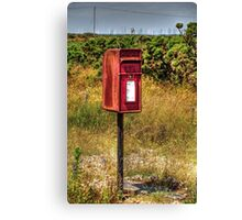 Red Post Box at Dungeness Canvas Print