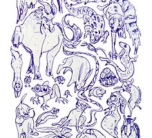 Extreme Animal Doodle by Muninn