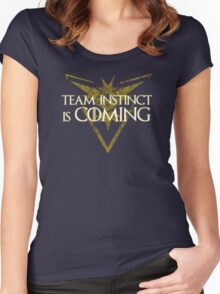 Pokemon Go - Team Instinct is Coming Women's Fitted Scoop T-Shirt
