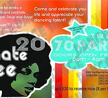 vintage 70's party flyer by delonte089