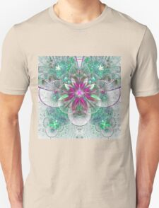 Light Flower - Abstract Fractal Artwork Unisex T-Shirt
