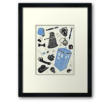 doctor who - mixed  Framed Print