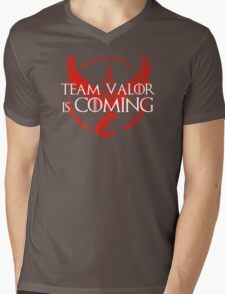 Pokemon Go - Team Valor Is Coming Mens V-Neck T-Shirt
