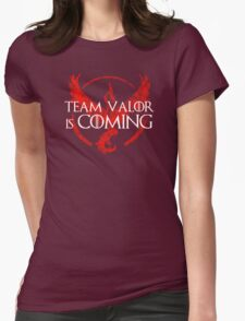 Pokemon Go - Team Valor Is Coming Womens Fitted T-Shirt