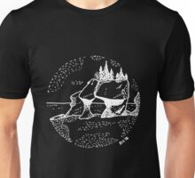Hand Drawn - Hopewell Rocks, New Brunswick - Alma Unisex T-Shirt