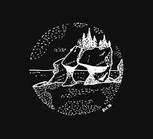 Hand Drawn - Hopewell Rocks, New Brunswick - Alma Unisex T-Shirt