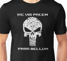 The Punisher Skull White Distressed with Quote Marvel Fanart Unisex T-Shirt