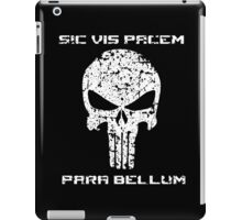 The Punisher Skull White Distressed with Quote Marvel Fanart iPad Case/Skin