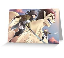 Attack On Titan 03 Greeting Card