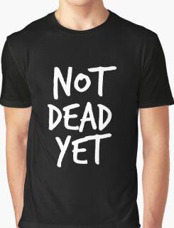 Not Dead Yet - Frank Turner Inspired T-Shirt (White) Graphic T-Shirt