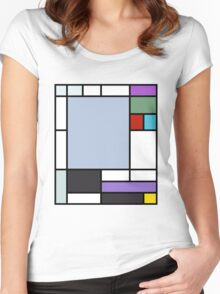 Ursula Mondrian Women's Fitted Scoop T-Shirt