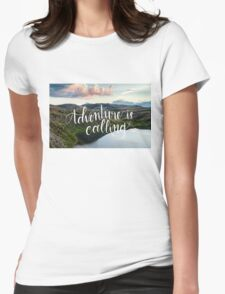 Adventure is Calling Womens Fitted T-Shirt