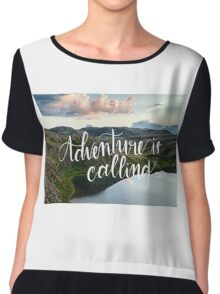 Adventure is Calling Chiffon Top