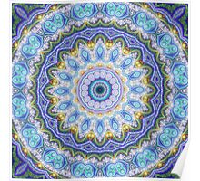 Blue Mandala - Abstract Fractal Artwork Poster