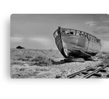 Derelict Fishing Boat at Dungeness Canvas Print