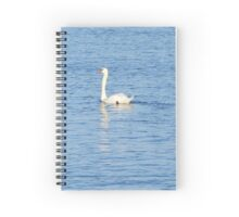 Swan on the wave of the sea Spiral Notebook