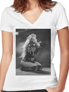 Beyoncé Knowles 1+1 LIVE Women's Fitted V-Neck T-Shirt