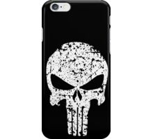 The Punisher Skull Distress White Marvel Fanart iPhone Case/Skin